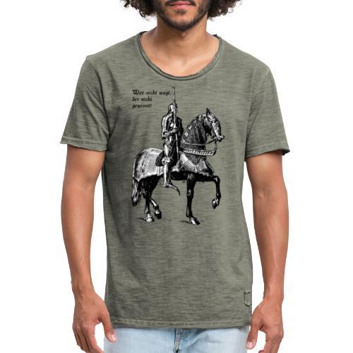 Wer nicht wagt... Ritter - Männer Vintage T-Shirt