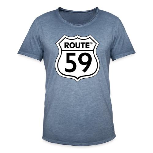Route 59 zwart wit - Mannen Vintage T-shirt