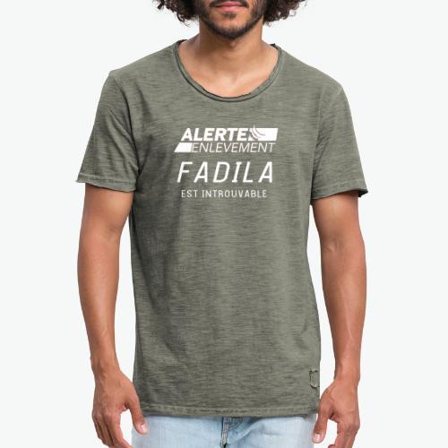ALERTE ENLEVEMENT - T-shirt vintage Homme
