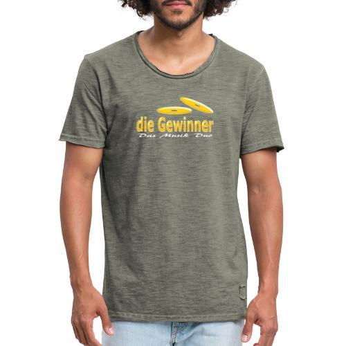 Das Klassische Weiße - Männer Vintage T-Shirt