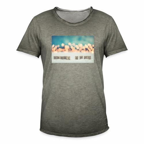 Merry Christmas - Herre vintage T-shirt