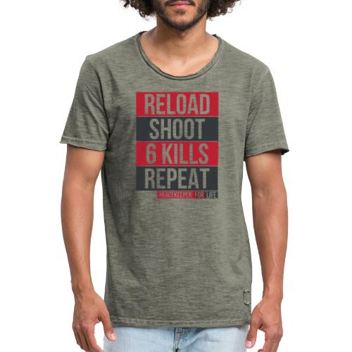Apex Legends - Peacekeeper reload shoot - Fanart - T-shirt vintage Homme