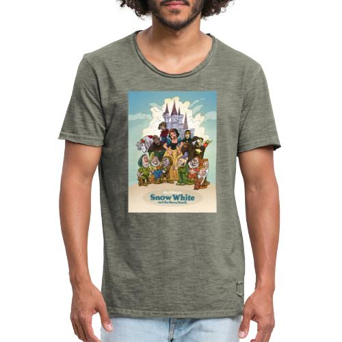 Snow White and the seven dwarfs - T-shirt vintage Homme