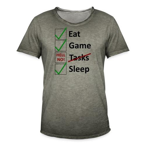 Schedule Shirt Black Version - Männer Vintage T-Shirt