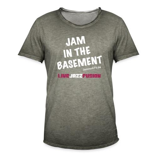 JazzrockTV - Jam In The Basement - Männer Vintage T-Shirt