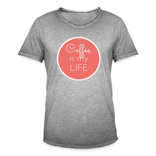 Coffee is my life - Camiseta vintage hombre