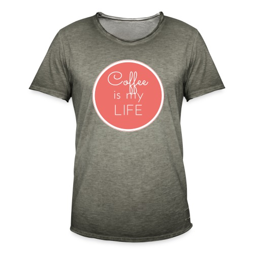 Coffee is my life - Camiseta vintage hombre