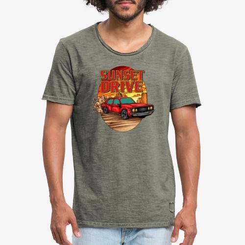 Sunset Drive - Männer Vintage T-Shirt