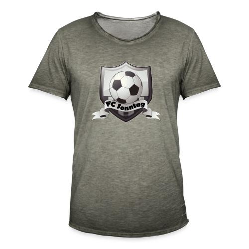 FC Sonntag Logo - Männer Vintage T-Shirt