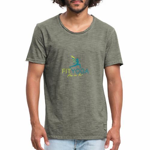 FIT Yoga, flow in too - Männer Vintage T-Shirt