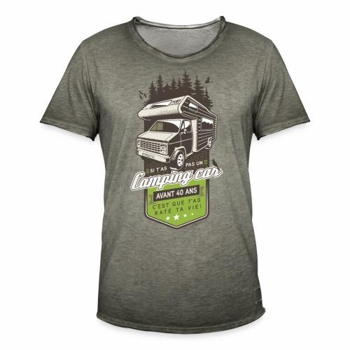 illustration camping car - T-shirt vintage Homme