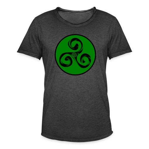 Triskel and Spiral - Camiseta vintage hombre