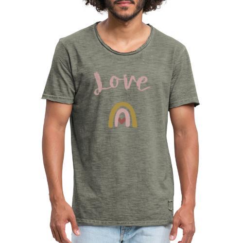 Love/Liebe - Männer Vintage T-Shirt