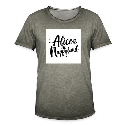 Alice in Nappyland Typography Black 1080 1 - Men's Vintage T-Shirt
