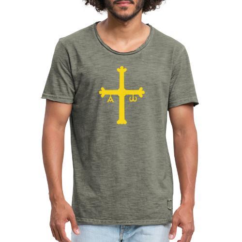 Cruz Asturianas - Camiseta vintage hombre