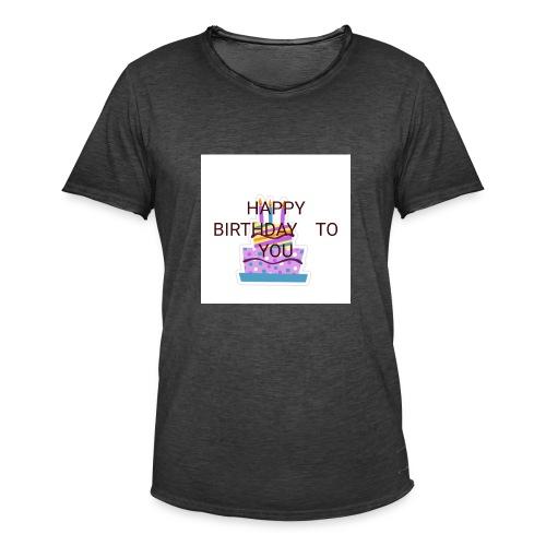 happy birthday 1 - Men's Vintage T-Shirt