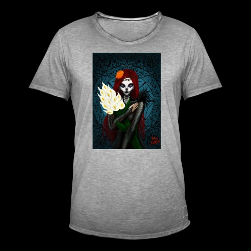 Death and lillies - Men's Vintage T-Shirt