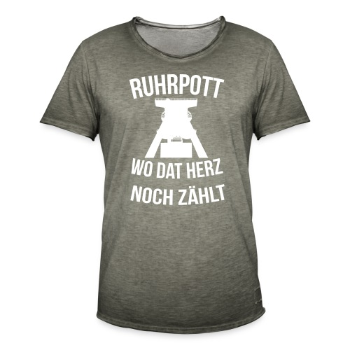 Ruhrpott - Wo dat Herz noch zählt - Männer Vintage T-Shirt