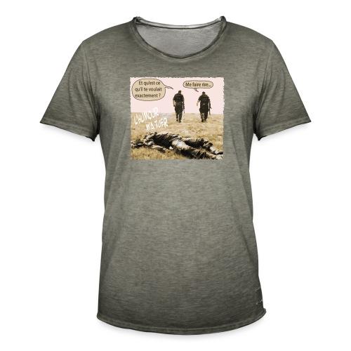 L'humour m'a tuer - T-shirt vintage Homme