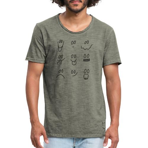 Faces - Camiseta vintage hombre