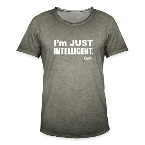 ImJUSTINTELLIGENT - Vintage-T-shirt herr