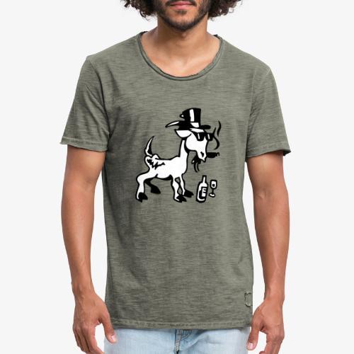 Bock auf Shirts ohne Text schwarz und weiß gefärbt - Männer Vintage T-Shirt