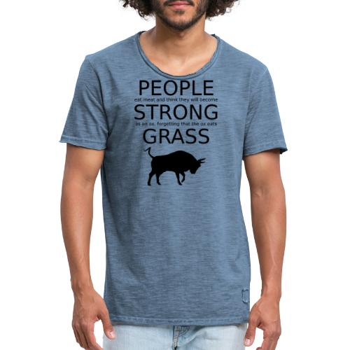 Strong People are Vegan - Männer Vintage T-Shirt
