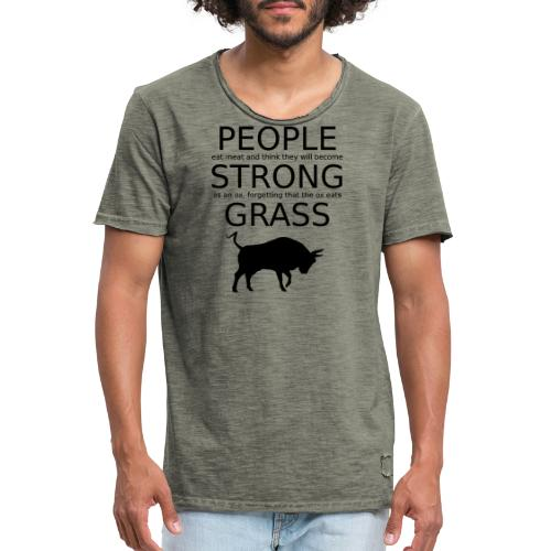 Strong People are Vegan - Männer Vintage T-Shirt