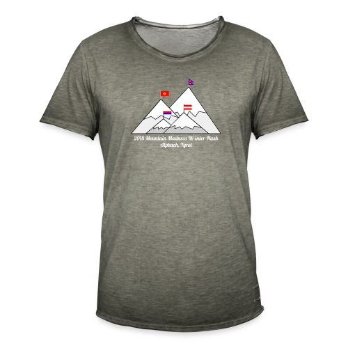 2018 W inter hash logo - Men's Vintage T-Shirt