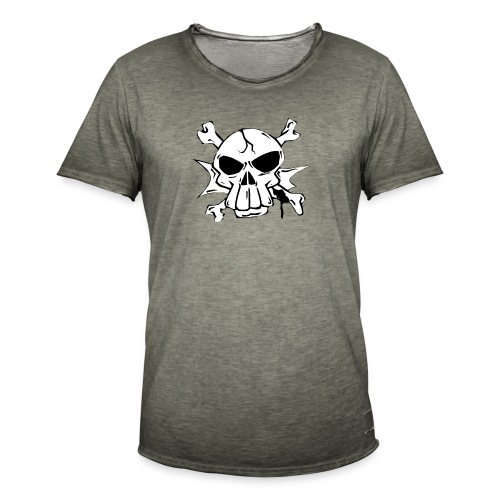 Skull - Maglietta vintage da uomo