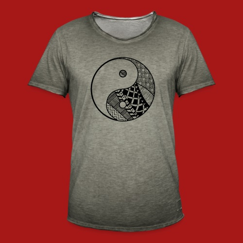 Decorative-Yin-Yang - Herre vintage T-shirt