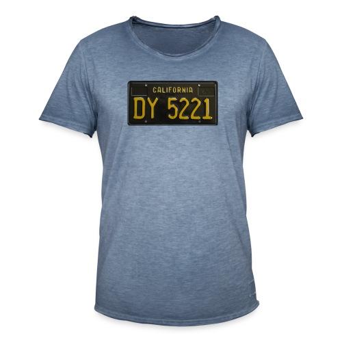CALIFORNIA BLACK LICENCE PLATE - Men's Vintage T-Shirt