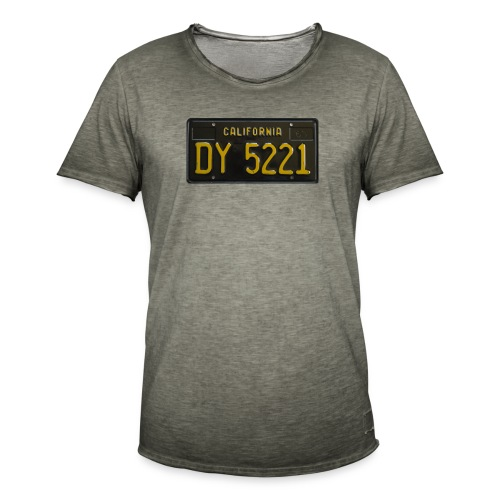 CALIFORNIA BLACK LICENCE PLATE - Men's Vintage T-Shirt