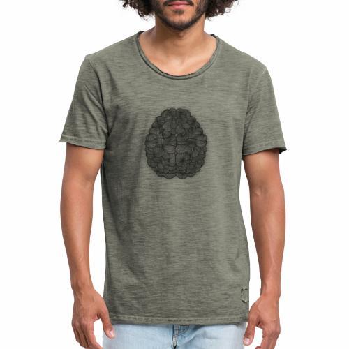 Cerebro abstracto - Camiseta vintage hombre