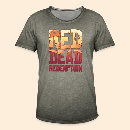 Red dead redemtion Sunset - Camiseta vintage hombre
