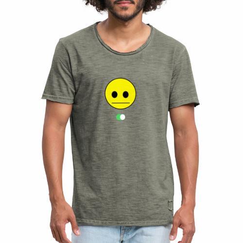 Happy Face is Inside - Camiseta vintage hombre
