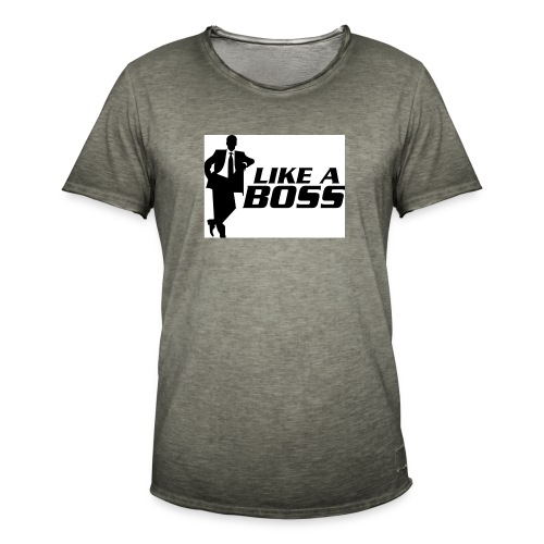like a boss - Mannen Vintage T-shirt