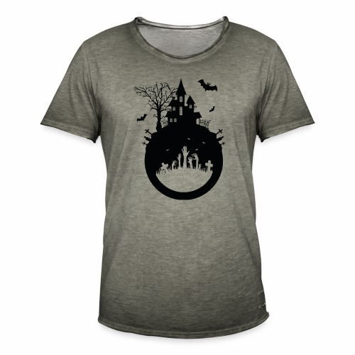 Haunted House - Halloween Design - Männer Vintage T-Shirt