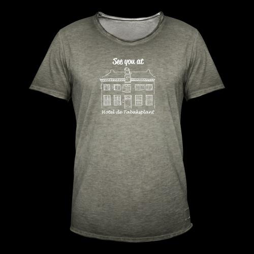 See you at Hotel de Tabaksplant WIT - Mannen Vintage T-shirt