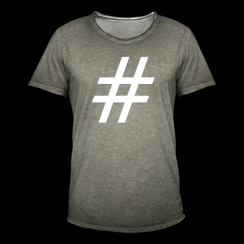 Hashtag Team - Männer Vintage T-Shirt
