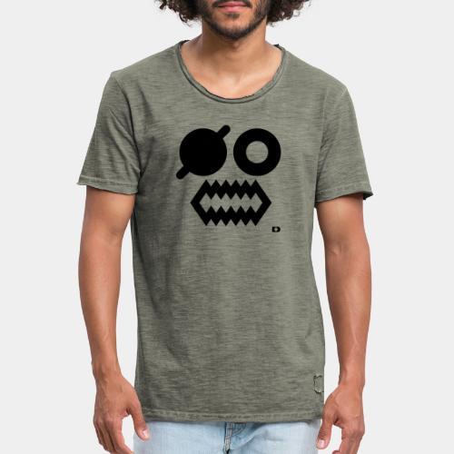 A-054 Smiley Pirat - Männer Vintage T-Shirt