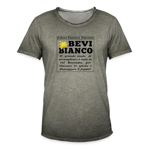 Bevi Bianco - Maglietta vintage da uomo