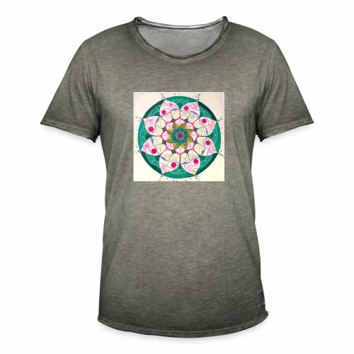 mandala rosa - Camiseta vintage hombre