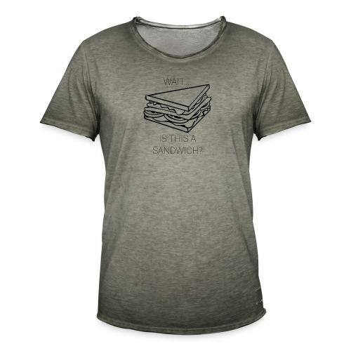 Sandwich. - Mannen Vintage T-shirt