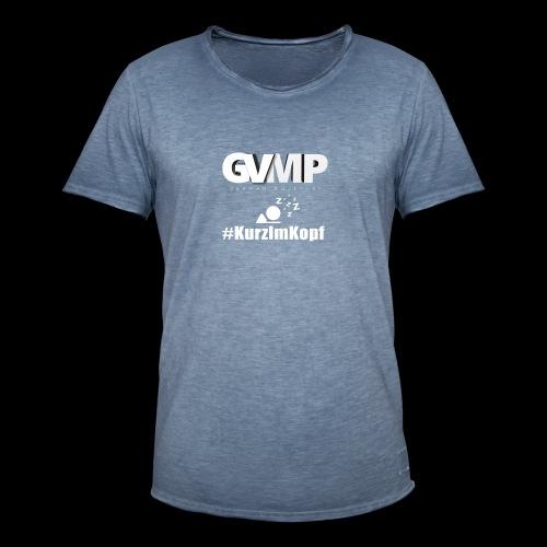Kurz im Kopf - Männer Vintage T-Shirt