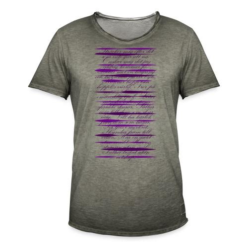 Märkligt - Vintage-T-shirt herr