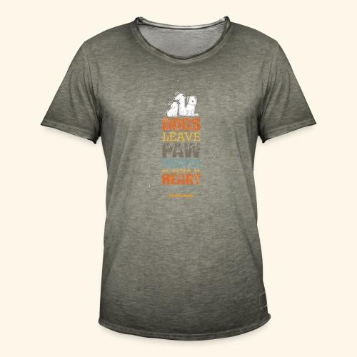 PAWPRINTONHEART - Maglietta vintage da uomo
