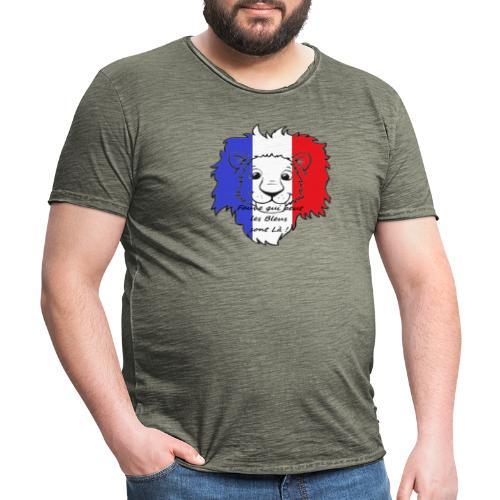 Lion supporter France - T-shirt vintage Homme