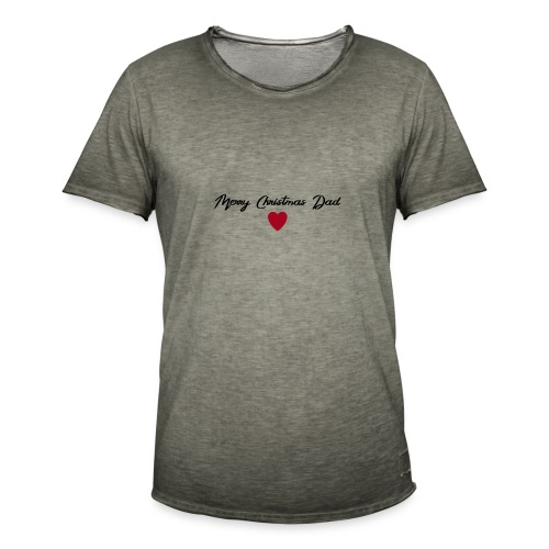 Merry Christmas Dad - Männer Vintage T-Shirt