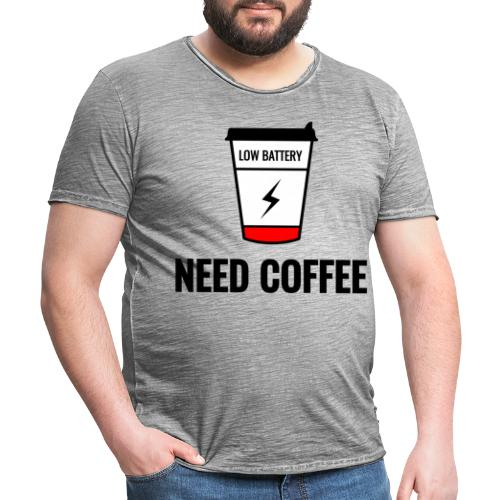 need coffee - Miesten vintage t-paita